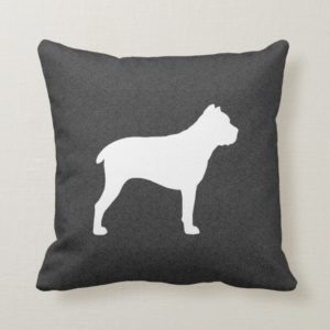 Cane Corso Silhouette Throw Pillow