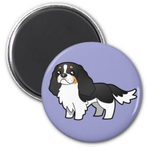 Cartoon Cavalier King Charles (tricolor 2) Magnet