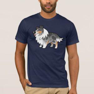 Cartoon Shetland Sheepdog / Collie (blue merle) T-Shirt