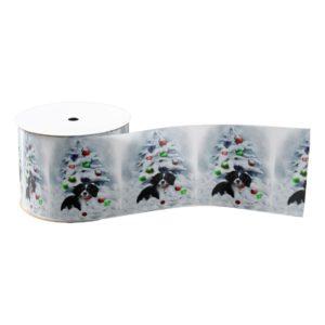Cavalier King Charles Spaniel Puppy Christmas Grosgrain Ribbon