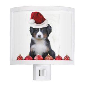 Christmas Bernese Mountain Dog Night Light