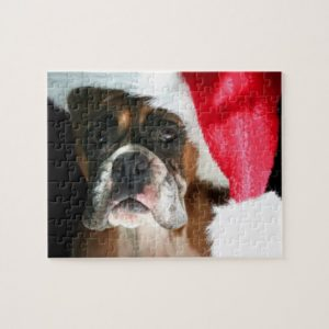 Christmas Boxer dog Jigsaw Puzzle