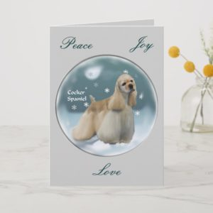 Cocker Spaniel Christmas Gifts Holiday Card