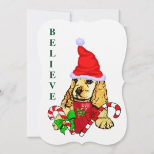 Cocker Spaniel Puppy Christmas Holiday Card