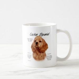 Cocker Spaniel (red) History Design Coffee Mug