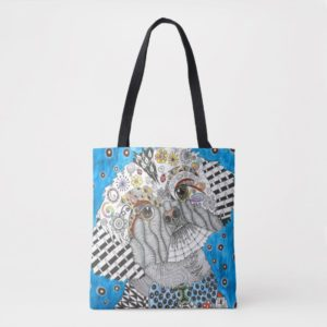 Cute and Colorful Shih Tzu Tote Bag