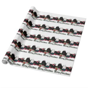 Cute Newfoundland Dogs at Christmas Wrapping Paper