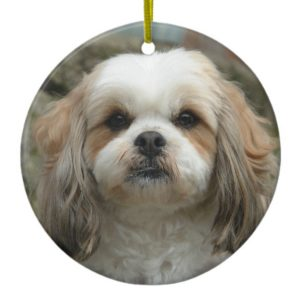 Cute Shih Tzu Christmas Ornament