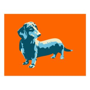 Dachshund Pop Art Dog Postcard