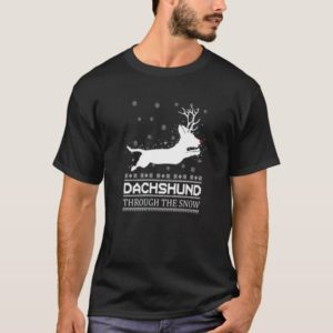Dachshund Through The Snow T Shirt Lover Daschund