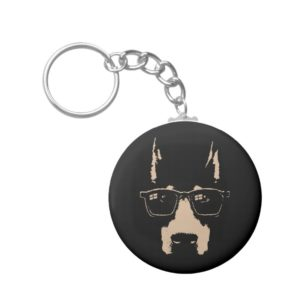 Dobe Glasses Keychain