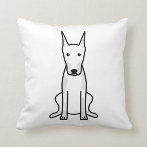 Doberman Pinscher Dog Cartoon Throw Pillow