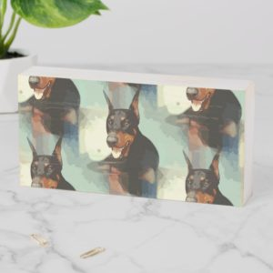 Doberman Pinscher Portrait Wooden Box Sign