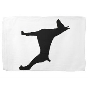 doberman pinscher silo black.png hand towel
