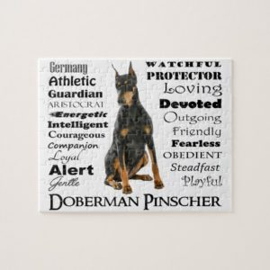 Doberman Traits Jigsaw Puzzle
