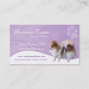 Dog Business Cards :: Pomeranian D2b