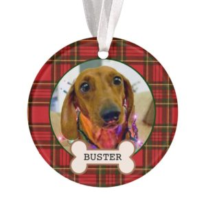 Dog Photo Dachshund Christmas Tree Ornament