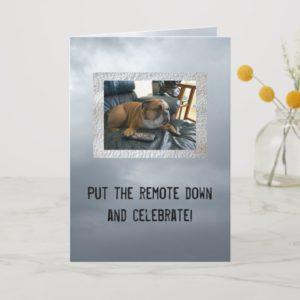 English bulldog funny happy birthday card