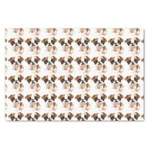 English Bulldog Tissue Wrapping Paper