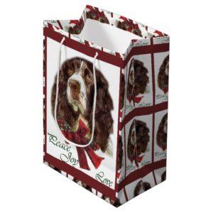 English Springer Spaniel Christmas Medium Gift Bag