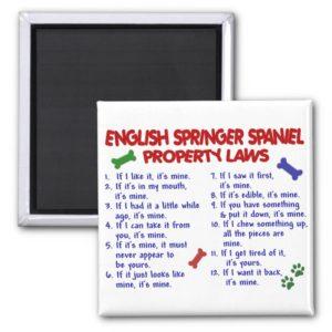 ENGLISH SPRINGER SPANIEL Property Laws 2 Magnet