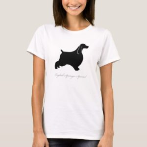 English Springer Spaniel T-shirt (black)