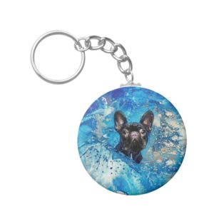 French Bulldog -Frenchie Dog Keychain