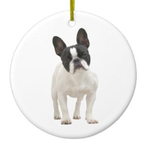 French Bulldog photo ornament, gift idea Ceramic Ornament