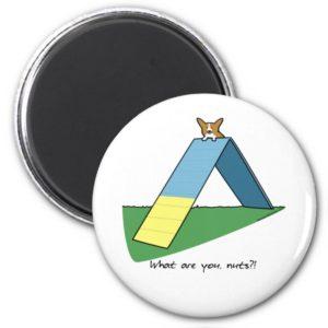 Funny A-Frame Corgi Agility Magnet
