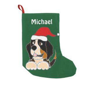 Funny Bernese Mountain Dog Christmas Stocking