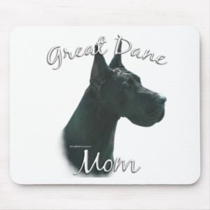 Great Dane (blk) Mom 2 Mouse Pad