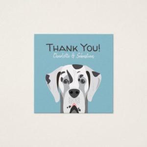 Great Dane Dog Harlequin Black and White