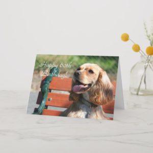 Happy 60th Birthday Cocker Spaniel Greeting Card
