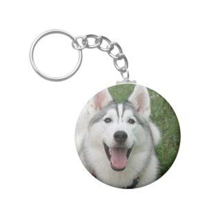 Happy Husky Keychain