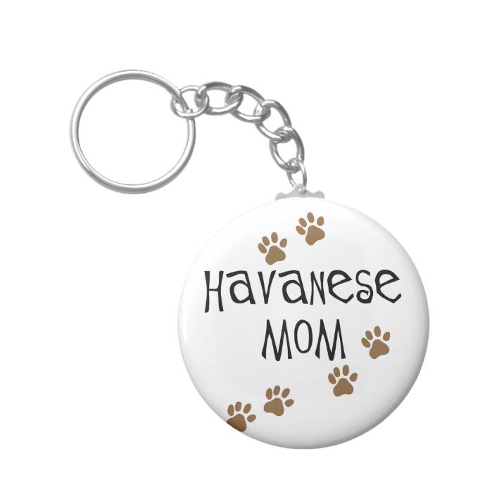 Havanese Mom Keychain
