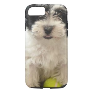 Havanese Rescue Puppy Black White Case-Mate iPhone Case