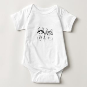 huskies Love Baby Bodysuit