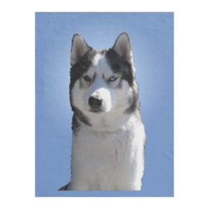 Husky Blanket Cool Siberian Husky Fleece Blanket