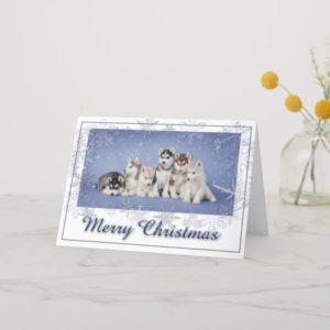 Husky Christmas Holiday Card