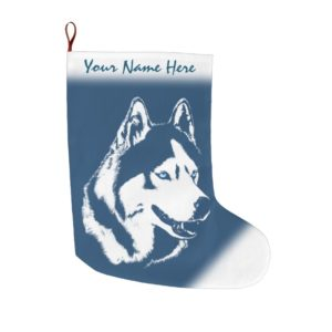 Husky Christmas Stocking Personalized Dog Stocking