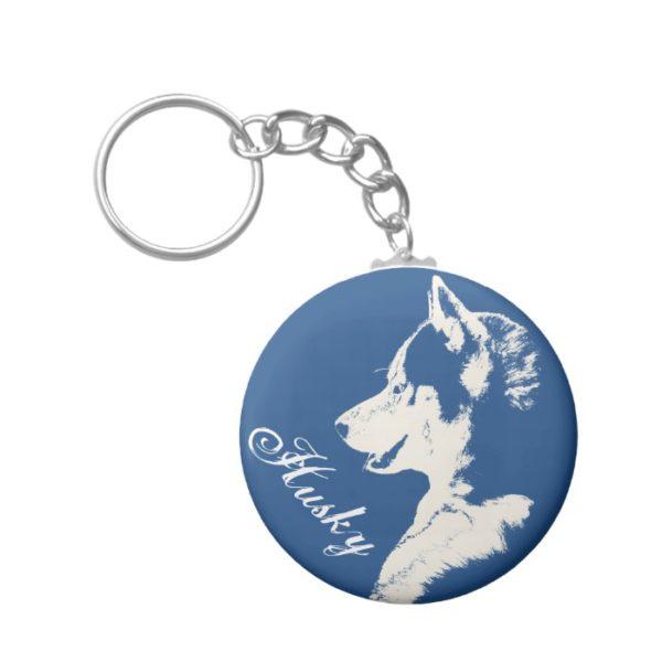Husky Keychain Siberian Husky Dog Keychain Custom