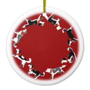 Husky Ornament Personalized Sled Dog Decoration