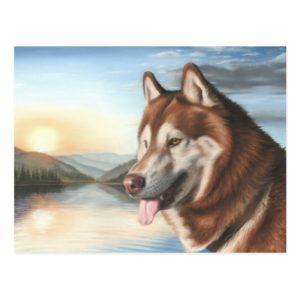 Husky Postcard