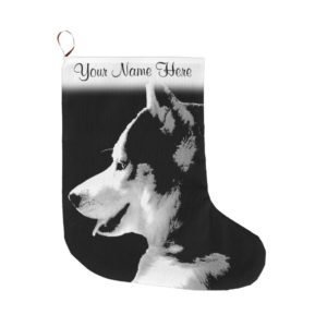Husky Pup Christmas Stocking Custom Husky Stocking