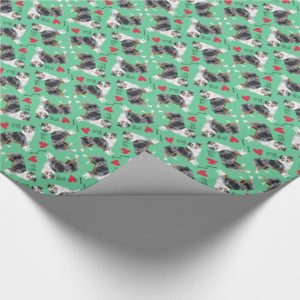 I Love my Mini American Shepherd Wrapping Paper