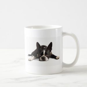 Lazy Boston Terrier Coffee Mug