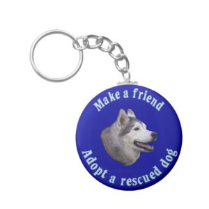 Make A Friend - Siberian Husky Keychain