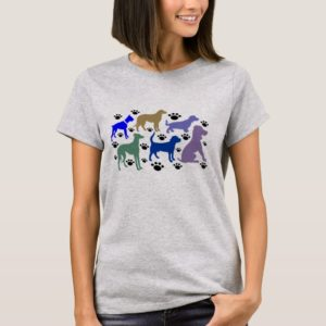 Many Many Dogs Tee For Women