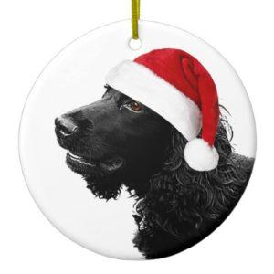 Merry Christmas Cocker Ceramic Ornament