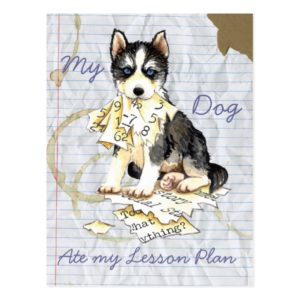 My Husky Ate my Lesson Plan Postcard